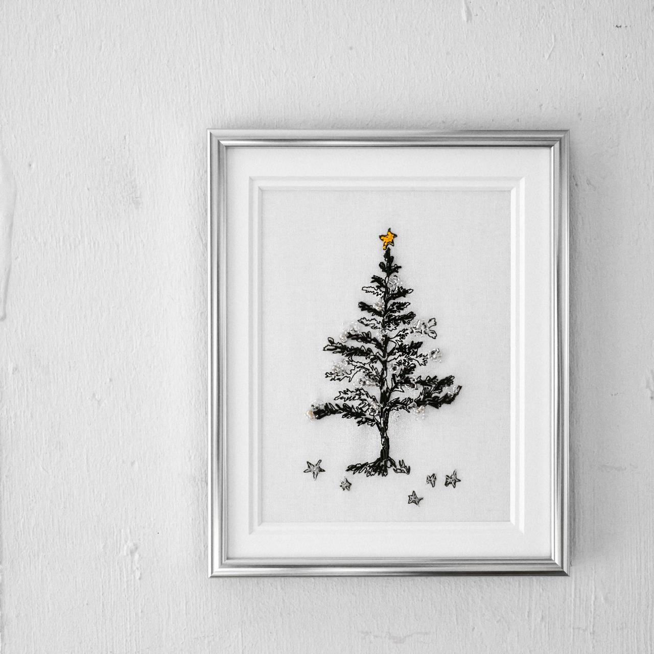 クリスマスの刺繍シンプル