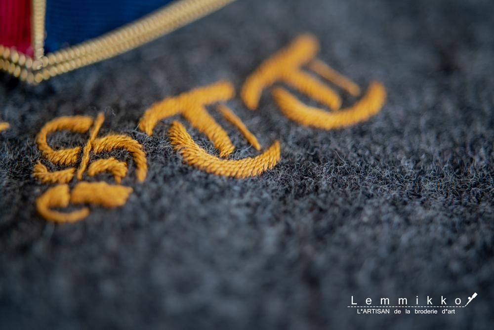 紋章と家紋のワッペンの刺繍