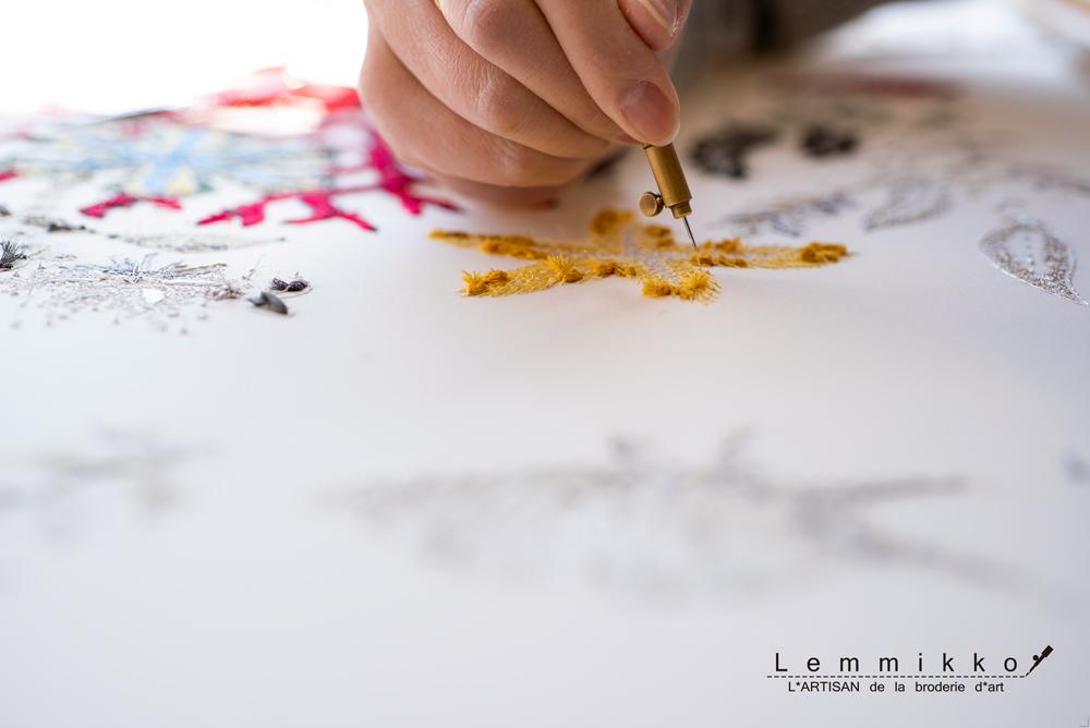 リュネビル刺繍の刺し方