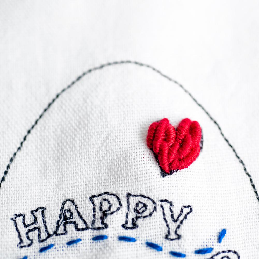 イースタのシンプルな刺繍